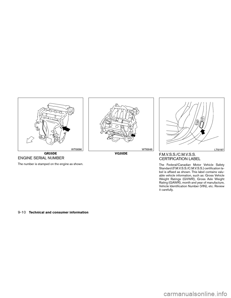 NISSAN ALTIMA COUPE 2011 D32 / 4.G Owners Manual, Page 419