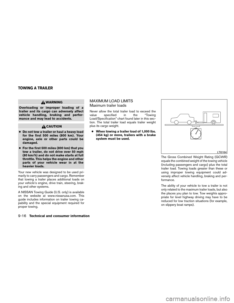 NISSAN ALTIMA COUPE 2011 D32 / 4.G Owners Manual, Page 425