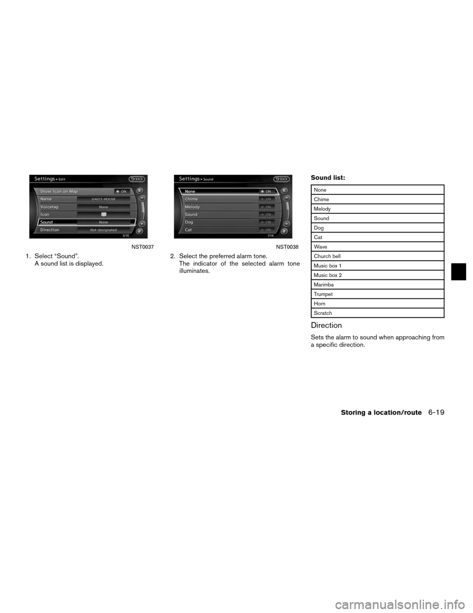 NISSAN ALTIMA HYBRID 2011 L32A / 4.G Navigation Manual, Page 169