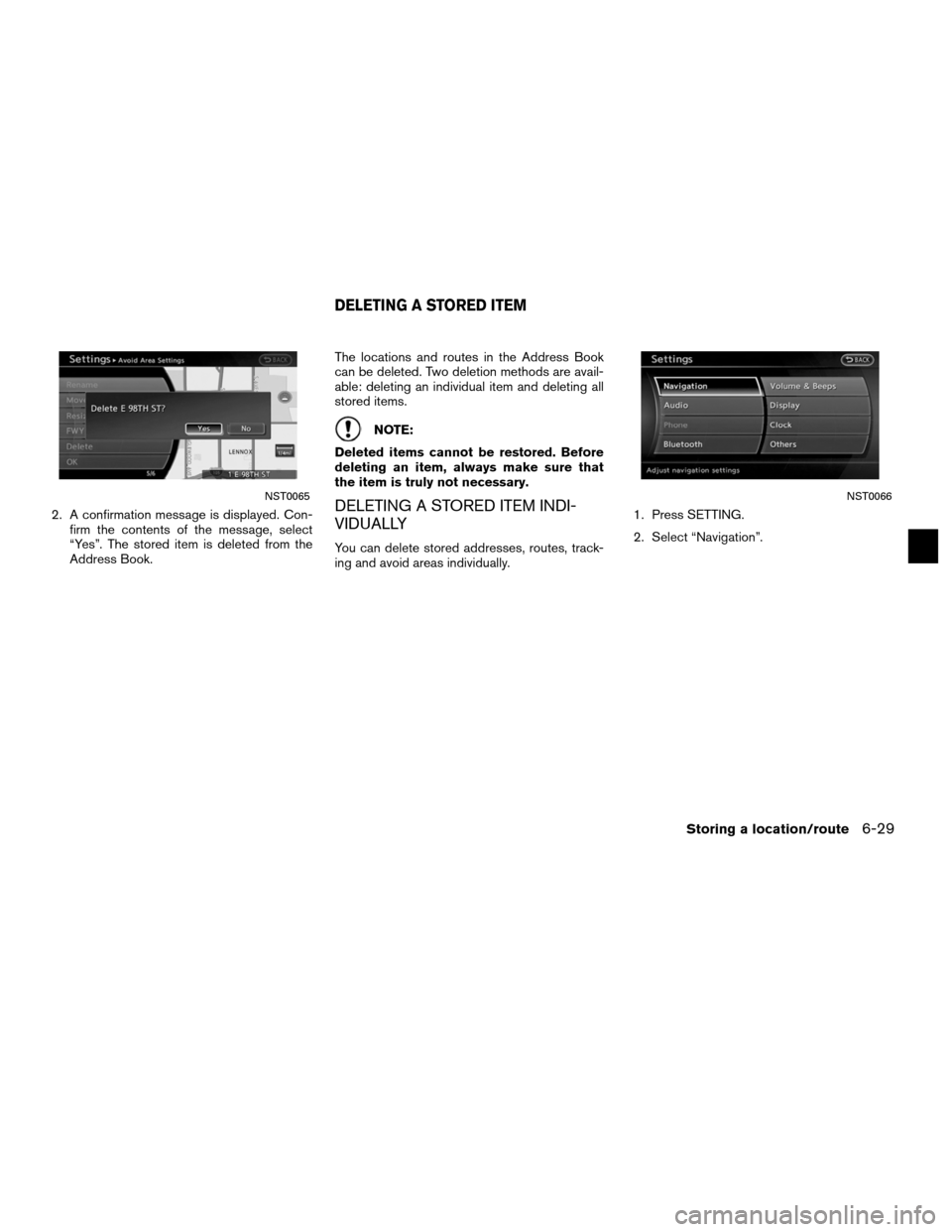 NISSAN ALTIMA HYBRID 2011 L32A / 4.G Navigation Manual, Page 179
