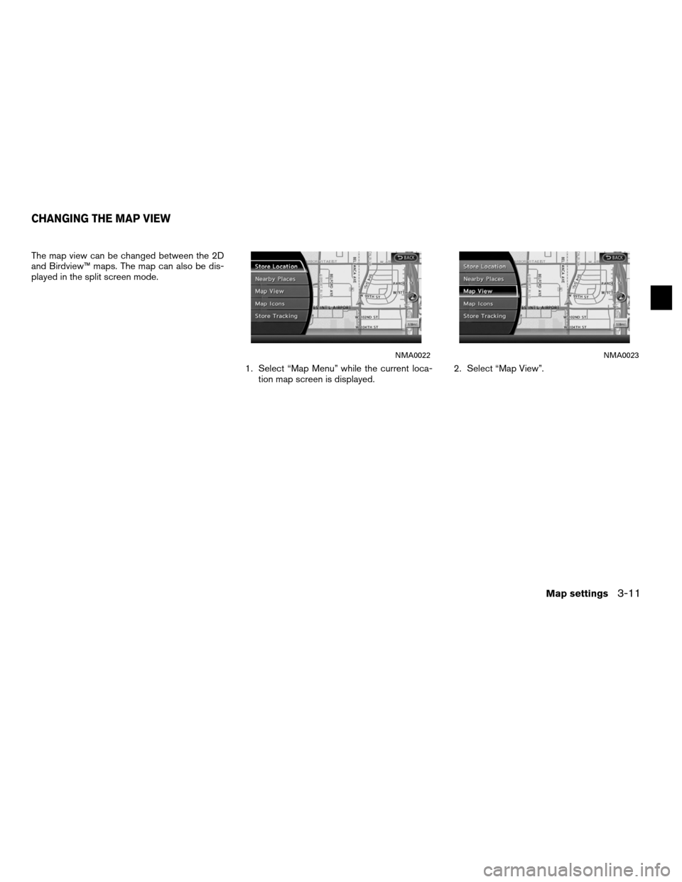 NISSAN ALTIMA HYBRID 2011 L32A / 4.G Navigation Manual, Page 57