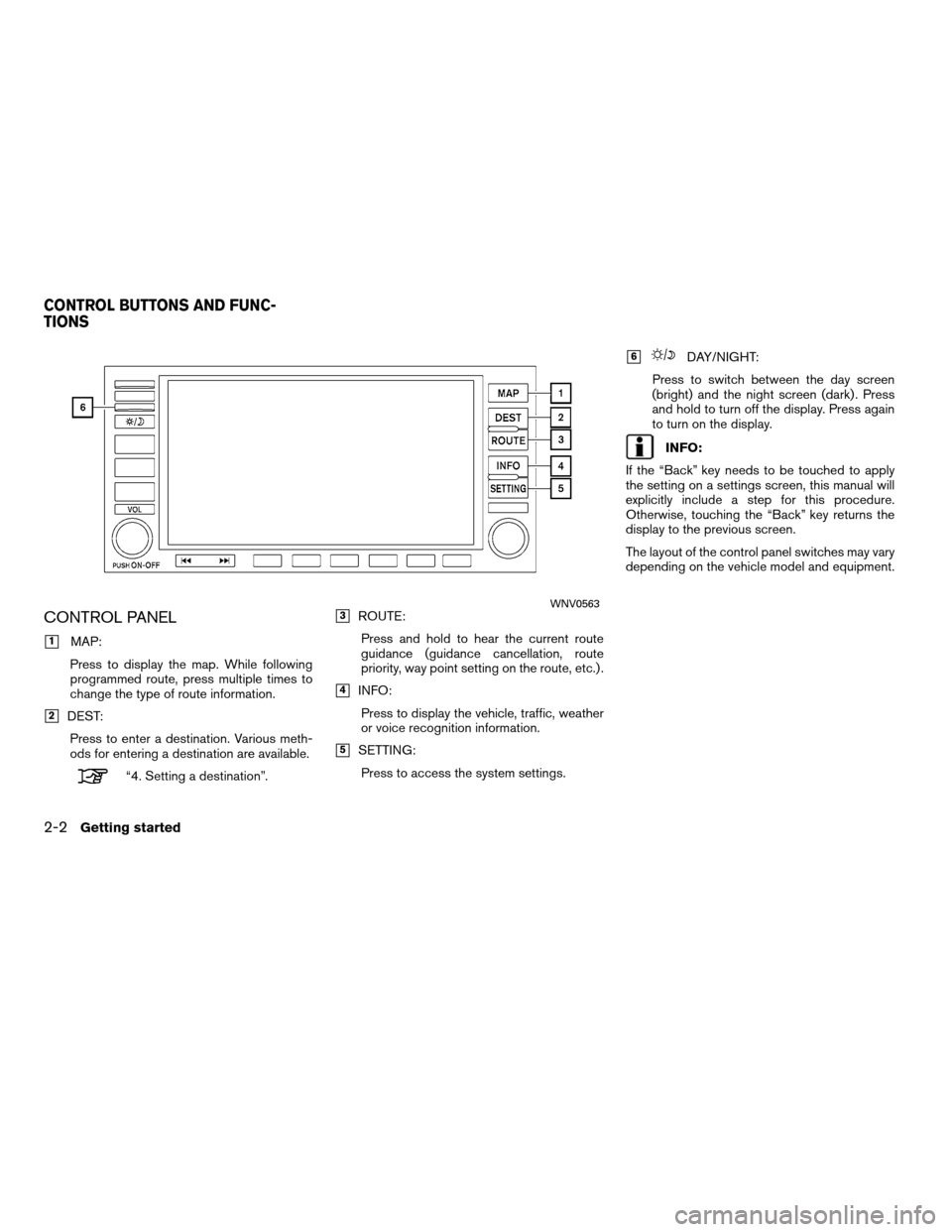 NISSAN ALTIMA HYBRID 2011 L32A / 4.G Navigation Manual, Page 10