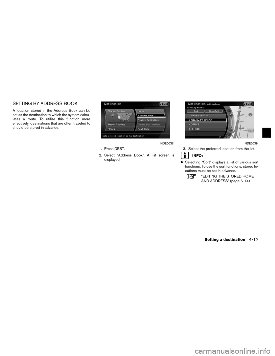 NISSAN ALTIMA HYBRID 2011 L32A / 4.G Navigation Manual, Page 91