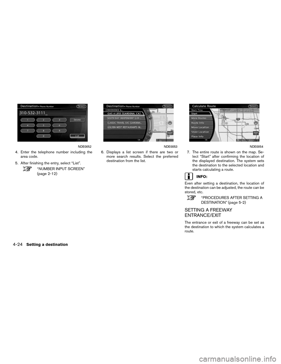 NISSAN ALTIMA HYBRID 2011 L32A / 4.G Navigation Manual, Page 98
