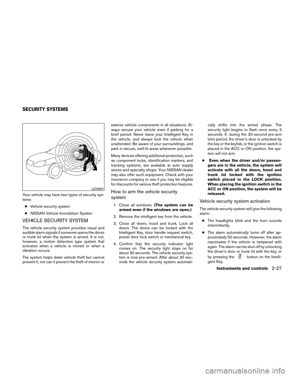 NISSAN ALTIMA HYBRID 2011 L32A / 4.G Owners Manual, Page 108