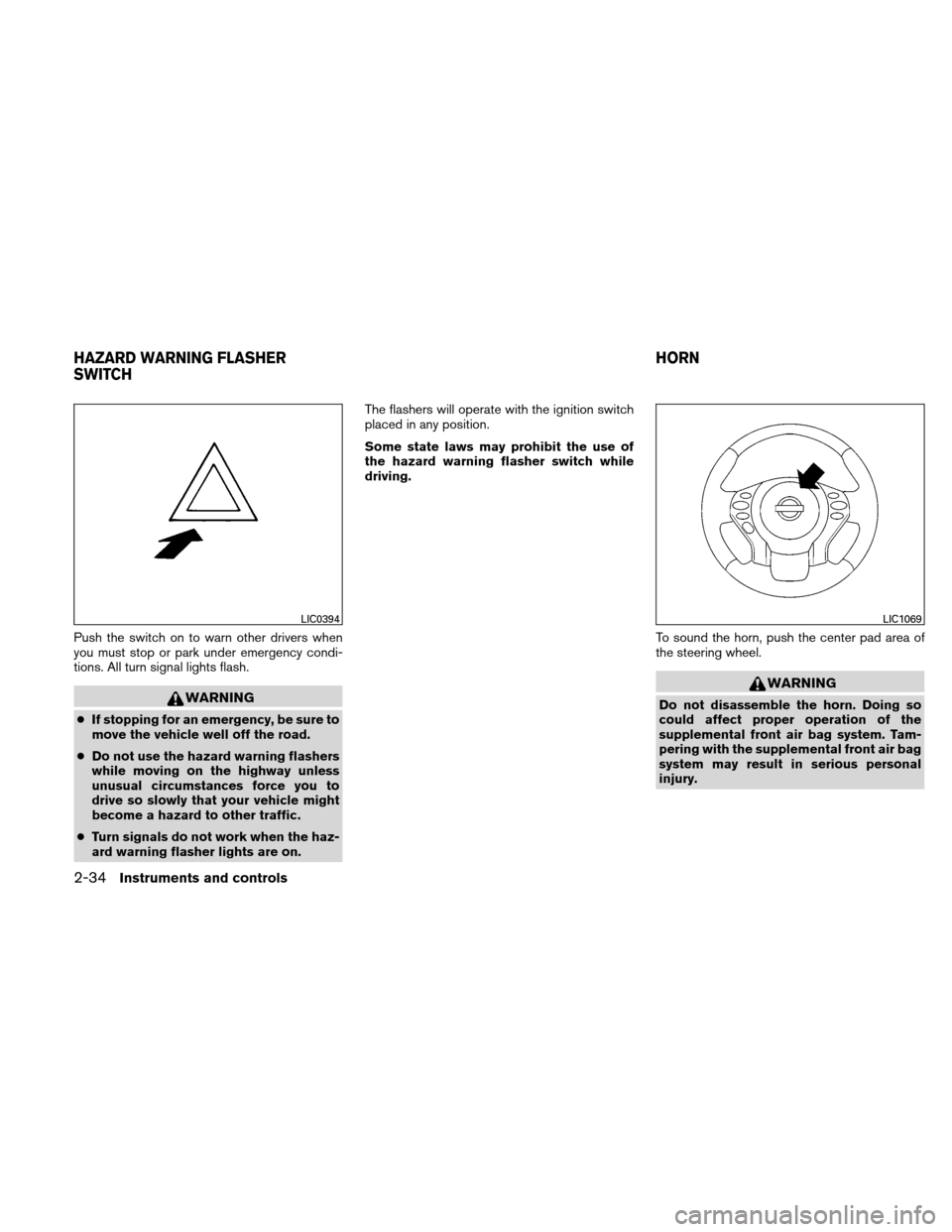 NISSAN ALTIMA HYBRID 2011 L32A / 4.G Owners Manual, Page 115