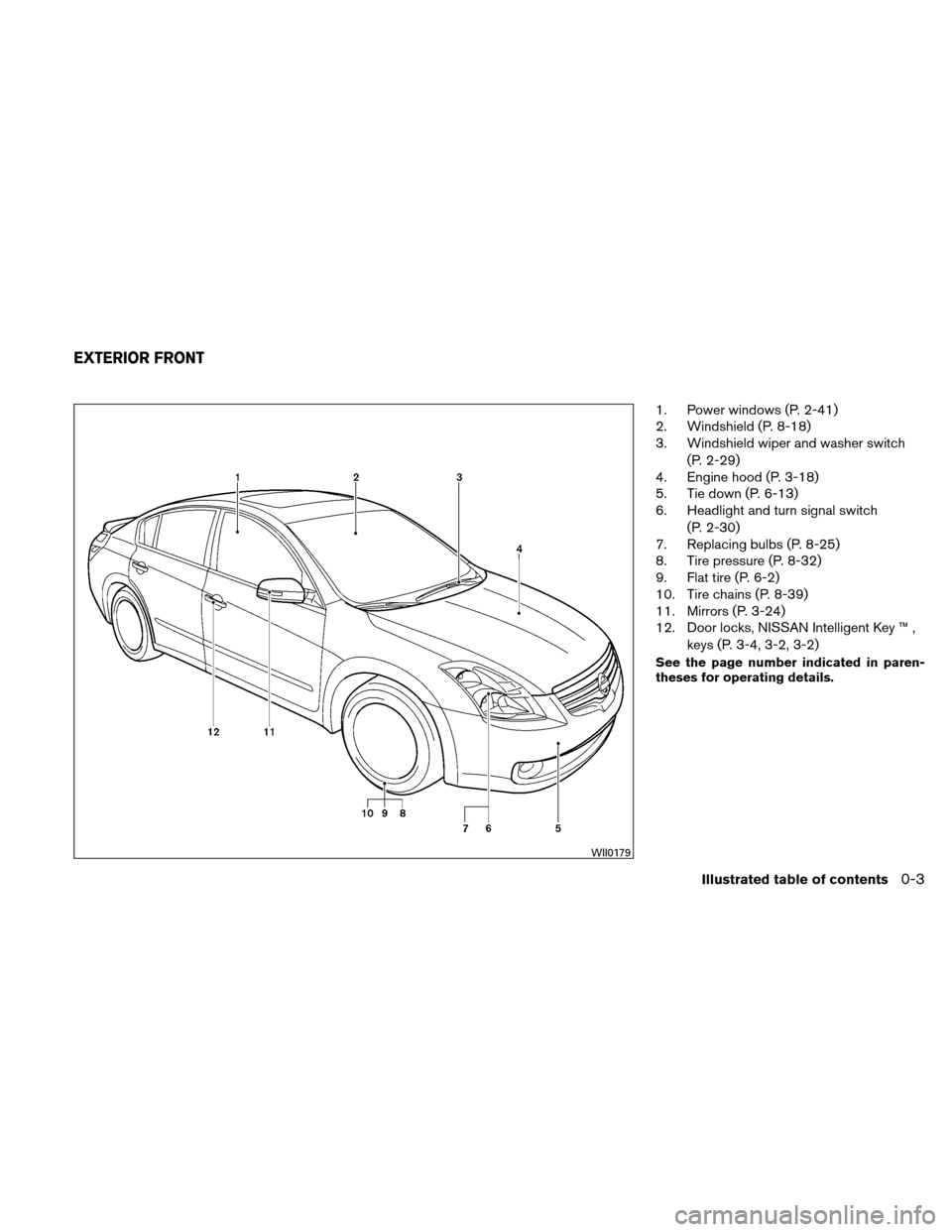 NISSAN ALTIMA HYBRID 2011 L32A / 4.G Owners Manual, Page 22