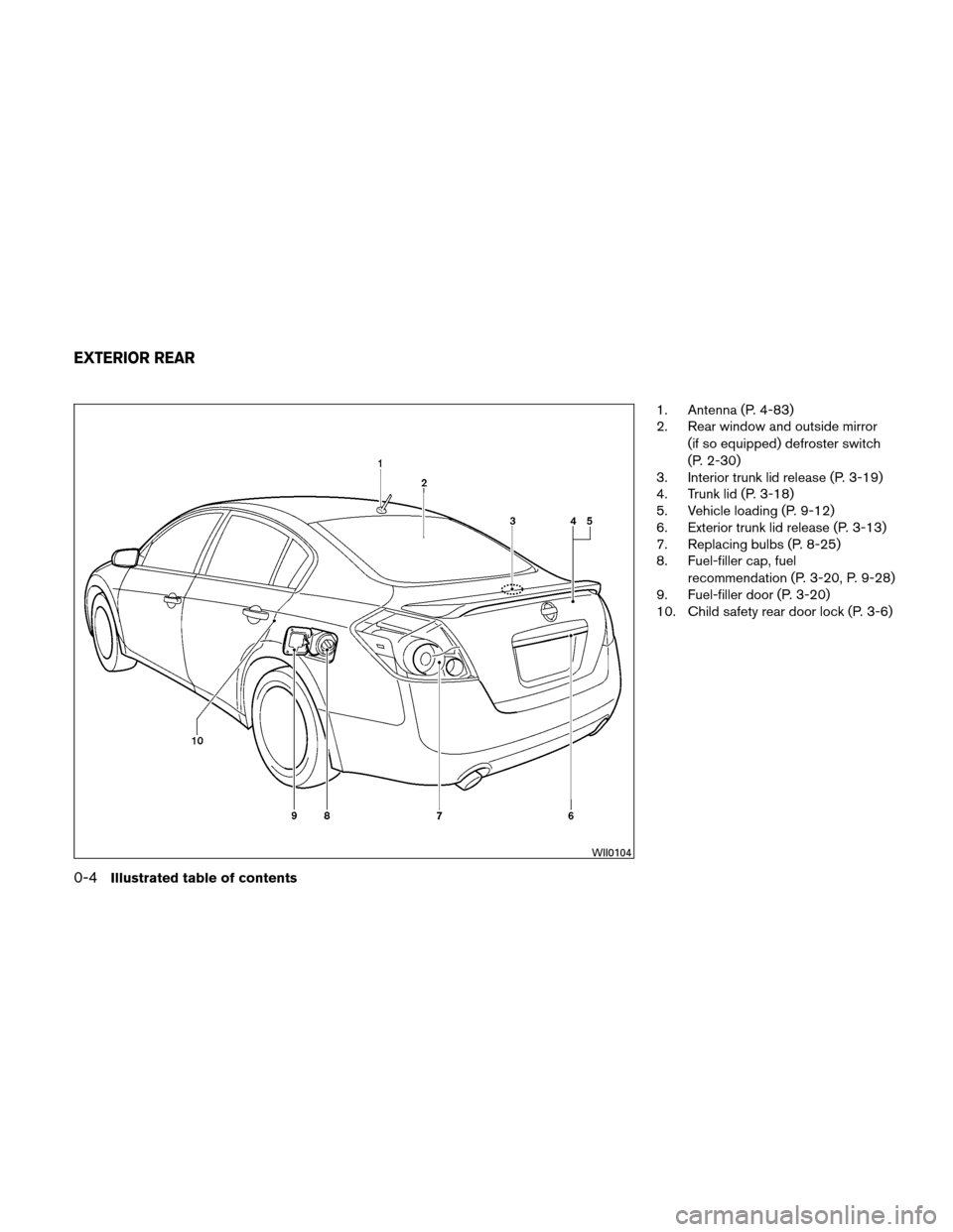 NISSAN ALTIMA HYBRID 2011 L32A / 4.G Owners Manual, Page 23