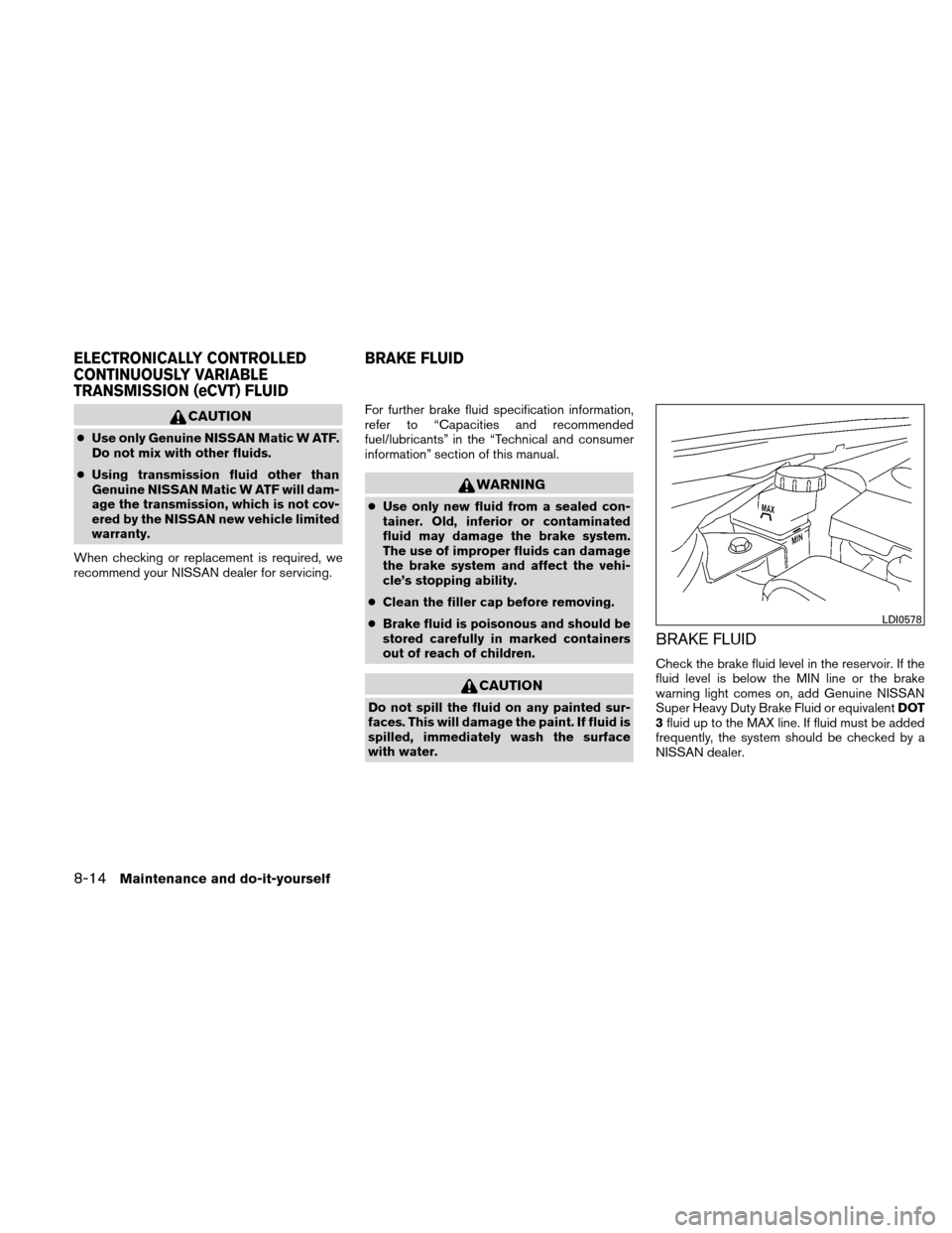NISSAN ALTIMA HYBRID 2011 L32A / 4.G Owners Manual, Page 355