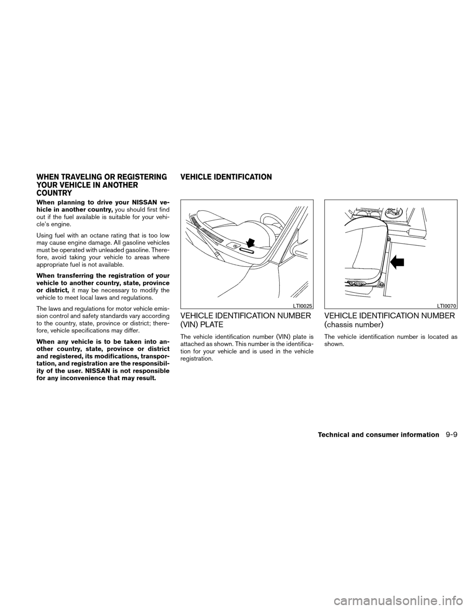 NISSAN ALTIMA HYBRID 2011 L32A / 4.G Owners Manual, Page 394