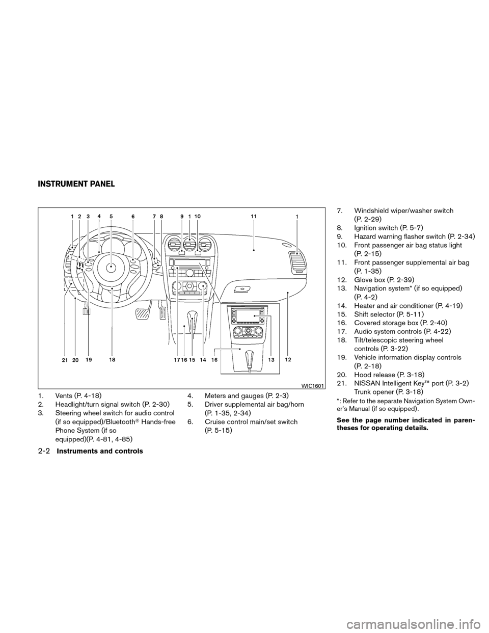 NISSAN ALTIMA HYBRID 2011 L32A / 4.G Owners Manual, Page 83