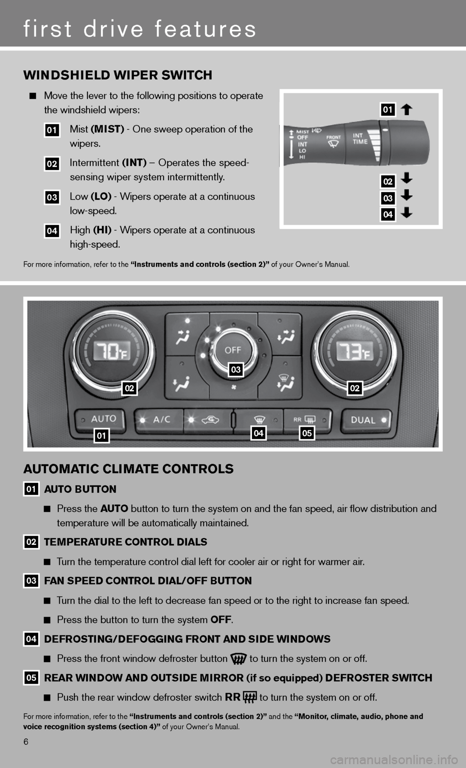 NISSAN ALTIMA HYBRID 2011 L32A / 4.G Quick Reference Guide, Page 8