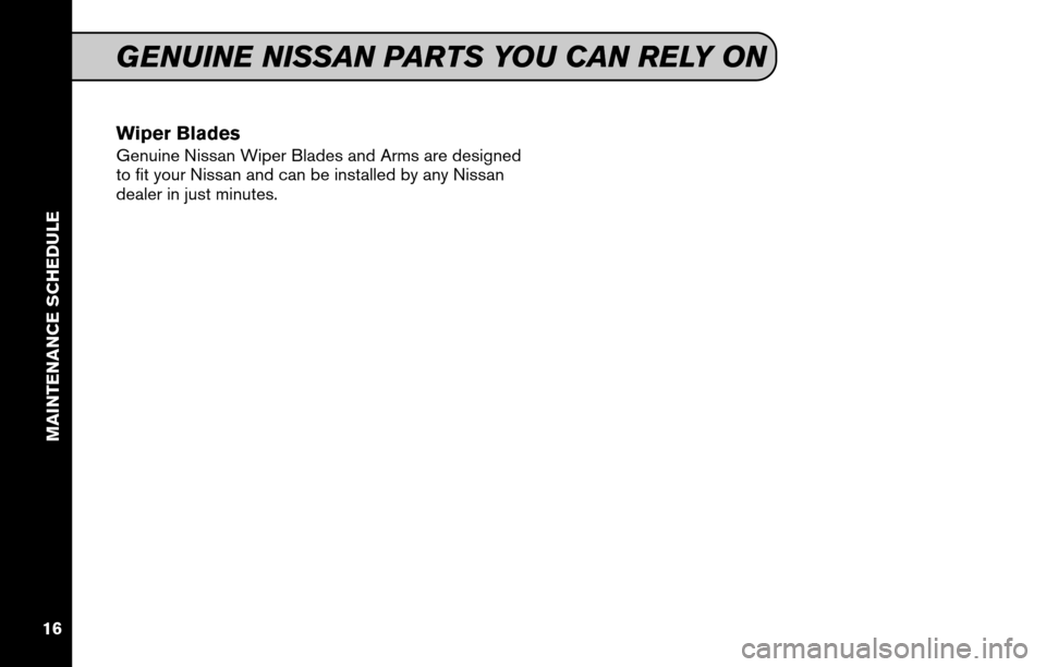 NISSAN VERSA HATCHBACK 2011 1.G Service And Maintenance Guide, Page 18