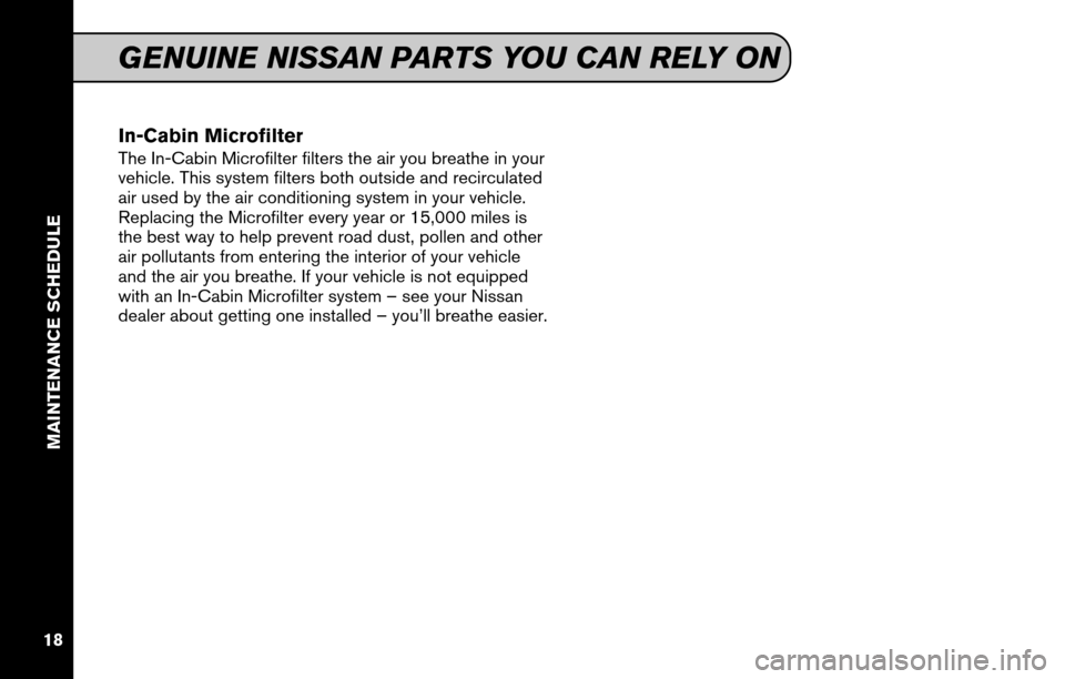 NISSAN VERSA HATCHBACK 2011 1.G Service And Maintenance Guide, Page 20