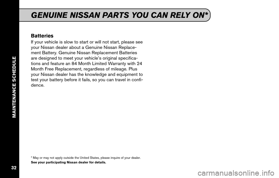 NISSAN CUBE 2011 3.G Service And Maintenance Guide, Page 34