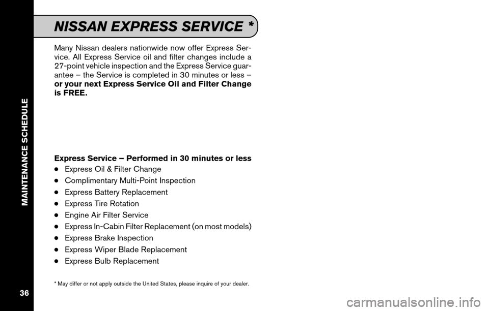 NISSAN CUBE 2011 3.G Service And Maintenance Guide, Page 38
