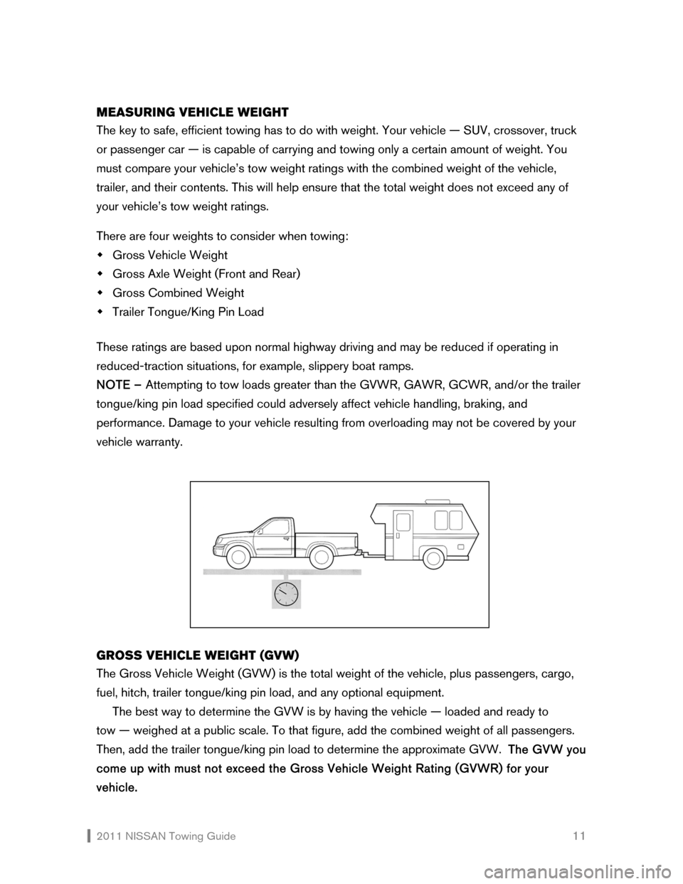 NISSAN SENTRA 2011 B16 / 6.G Towing Guide, Page 12