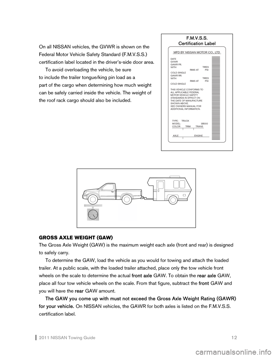 NISSAN SENTRA 2011 B16 / 6.G Towing Guide, Page 13
