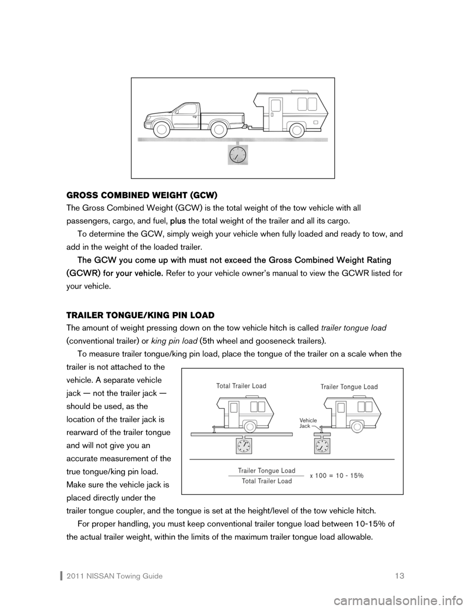 NISSAN SENTRA 2011 B16 / 6.G Towing Guide, Page 14