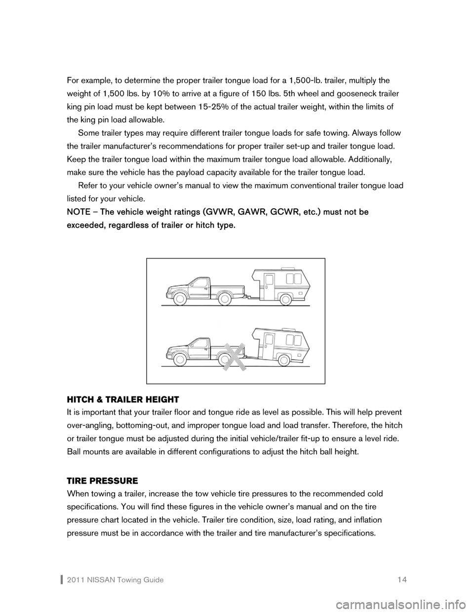 NISSAN SENTRA 2011 B16 / 6.G Towing Guide, Page 15