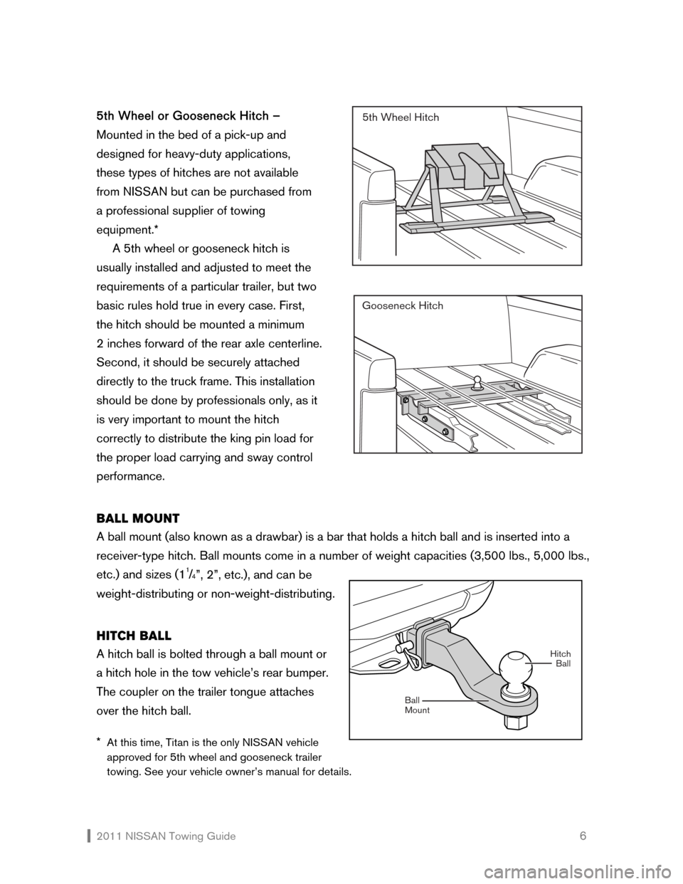 NISSAN XTERRA 2011 N50 / 2.G Towing Guide, Page 7