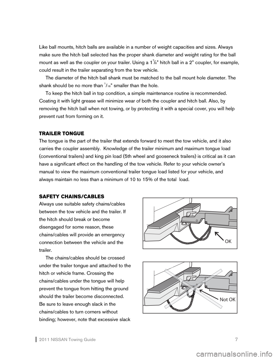 NISSAN XTERRA 2011 N50 / 2.G Towing Guide, Page 8