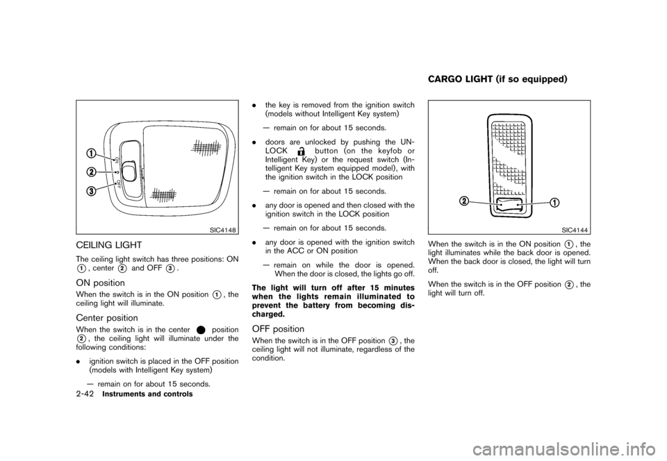 NISSAN CUBE 2011 3.G Owners Manual, Page 116