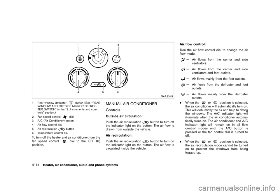 NISSAN CUBE 2011 3.G Owners Manual, Page 162