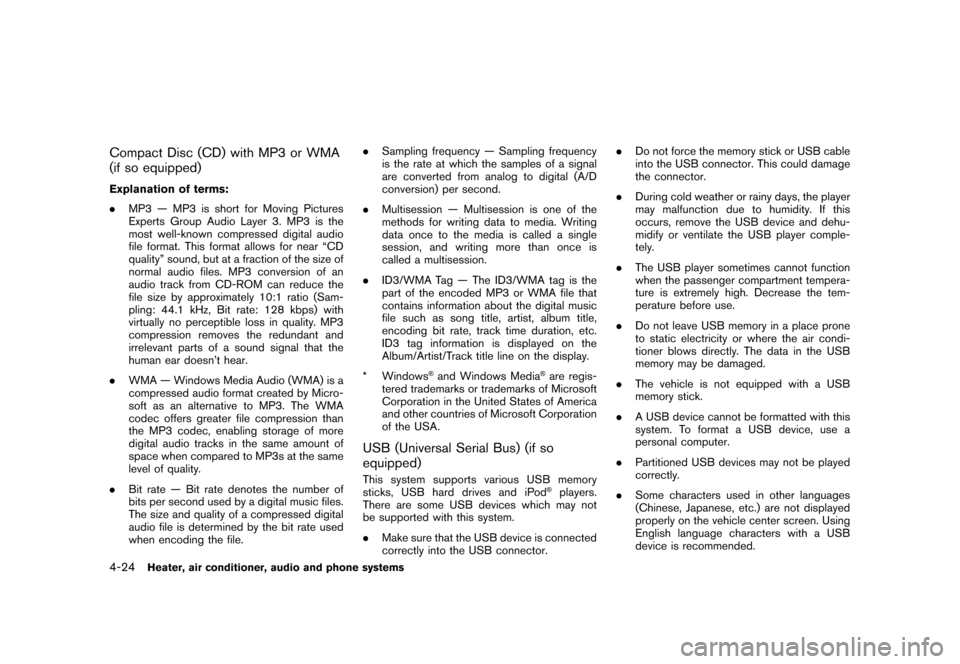 NISSAN CUBE 2011 3.G Owners Manual, Page 172