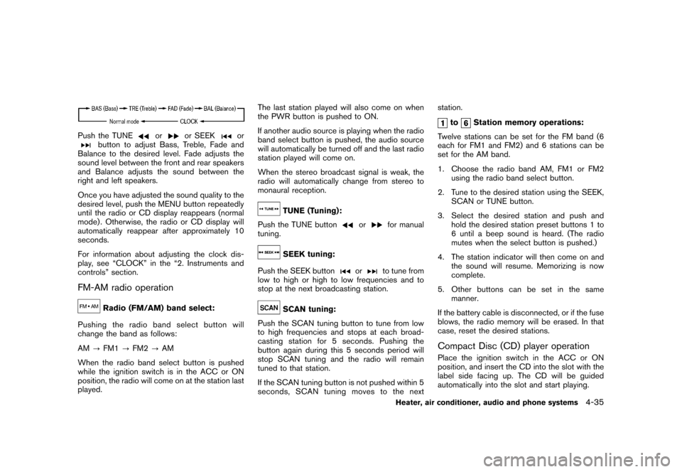 NISSAN CUBE 2011 3.G Owners Manual, Page 183
