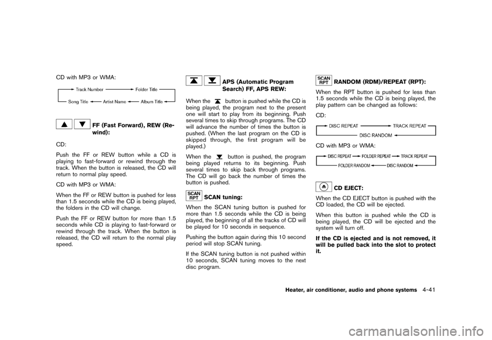 NISSAN CUBE 2011 3.G Owners Manual, Page 189