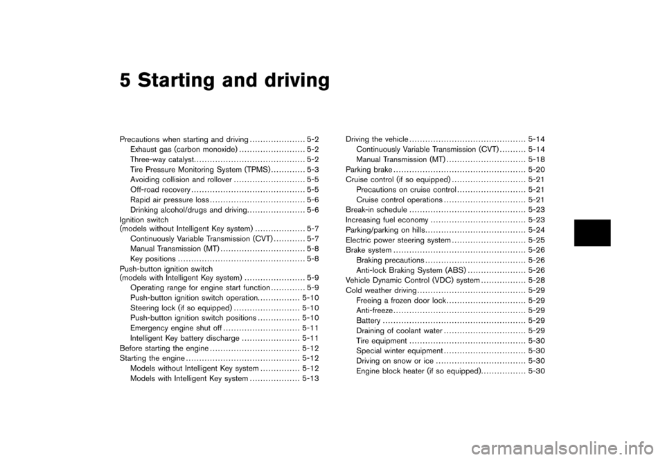 NISSAN CUBE 2011 3.G Owners Manual, Page 217