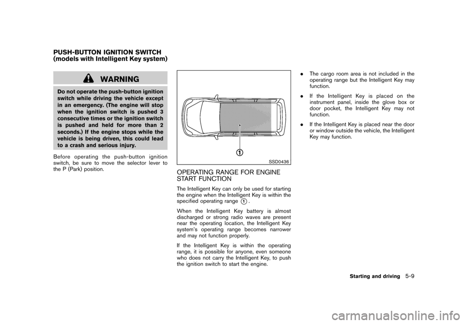 NISSAN CUBE 2011 3.G Owners Manual, Page 225