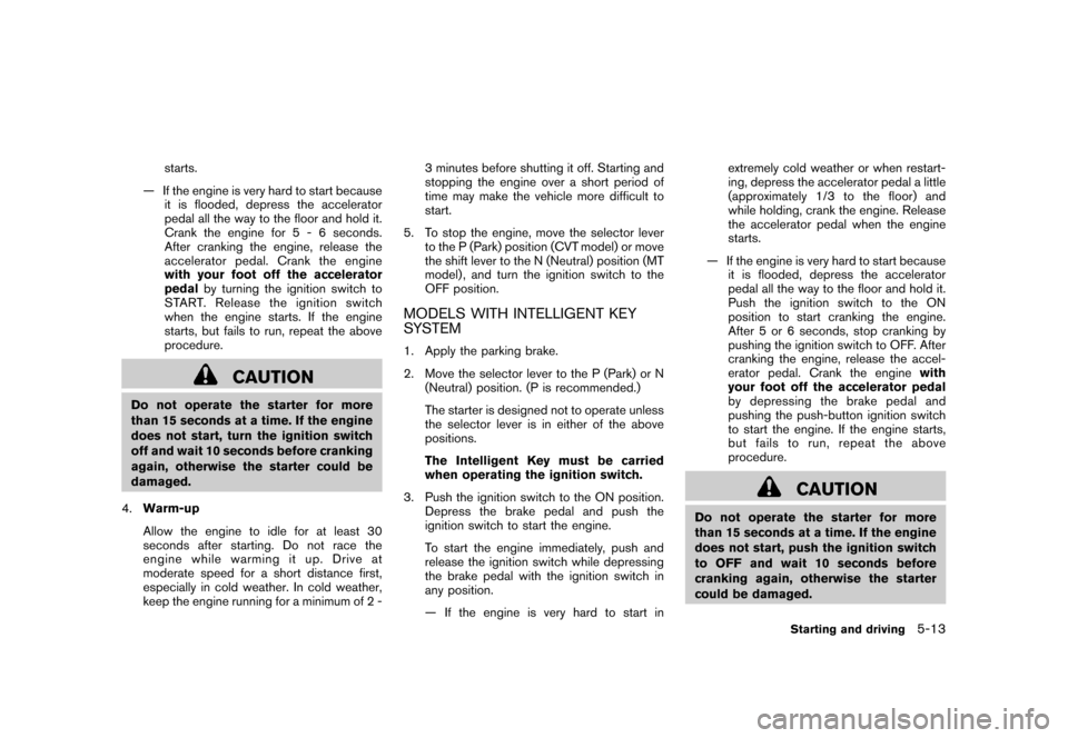 NISSAN CUBE 2011 3.G Owners Manual, Page 229