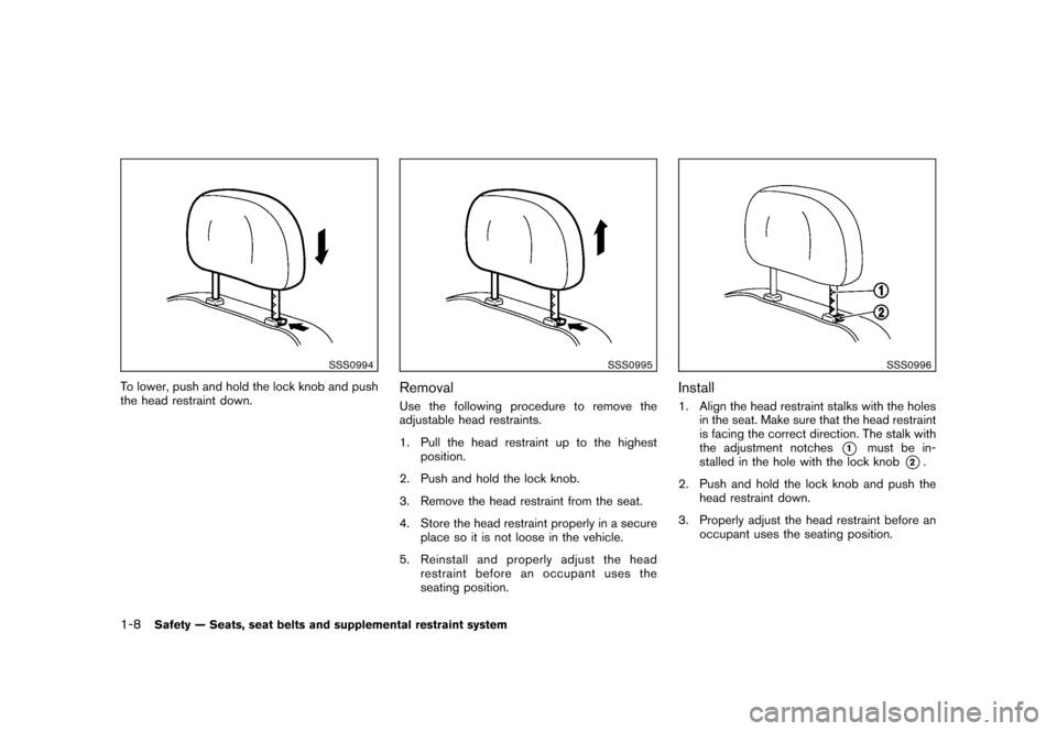 NISSAN CUBE 2011 3.G Owners Manual, Page 26