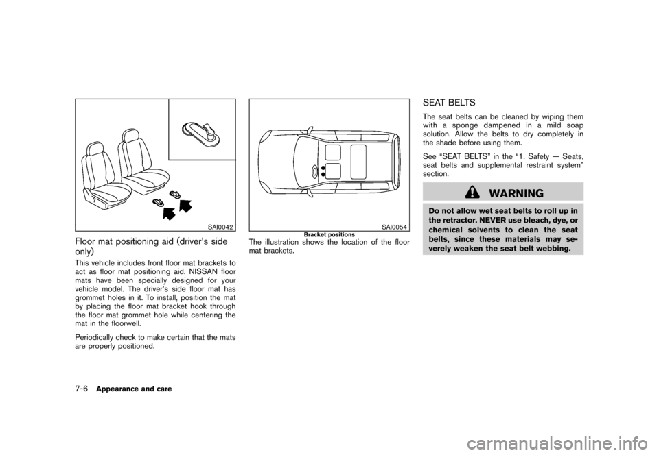 NISSAN CUBE 2011 3.G Owners Manual, Page 272