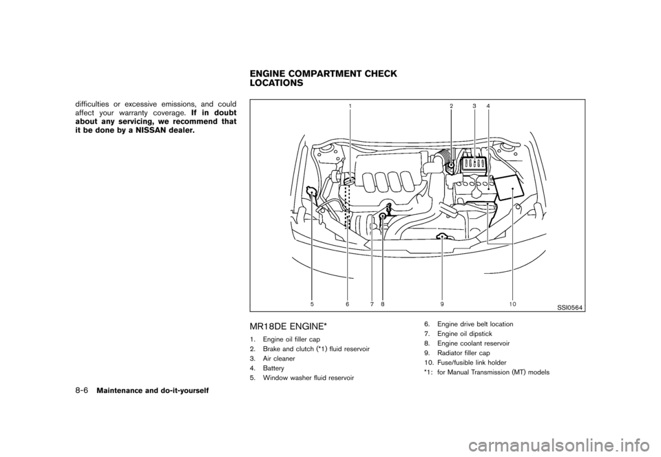 NISSAN CUBE 2011 3.G Owners Manual, Page 280
