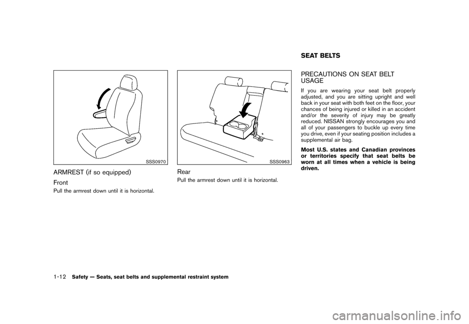 NISSAN CUBE 2011 3.G Owners Manual, Page 30