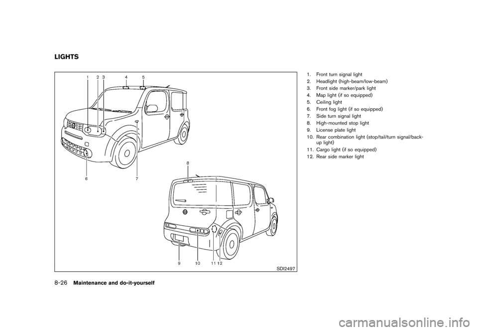 NISSAN CUBE 2011 3.G Owners Manual, Page 300