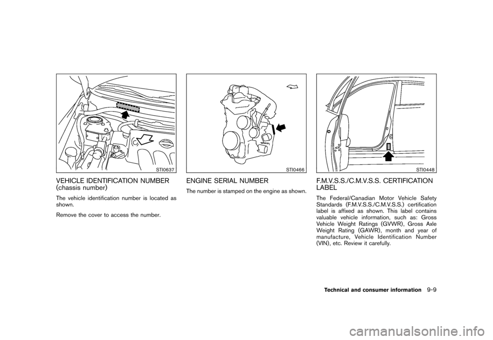 NISSAN CUBE 2011 3.G Owners Manual, Page 323