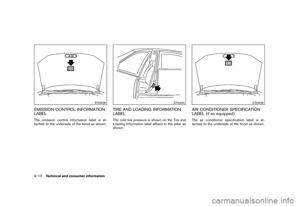 NISSAN CUBE 2011 3.G Owners Manual, Page 324