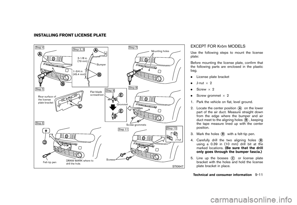 NISSAN CUBE 2011 3.G Owners Manual, Page 325
