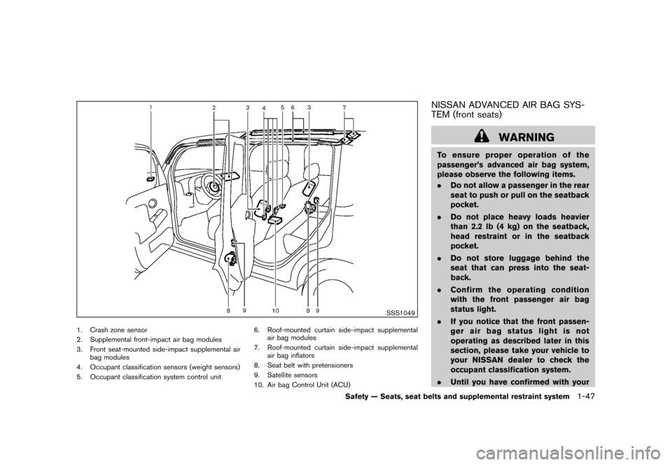 NISSAN CUBE 2011 3.G Owners Manual, Page 65