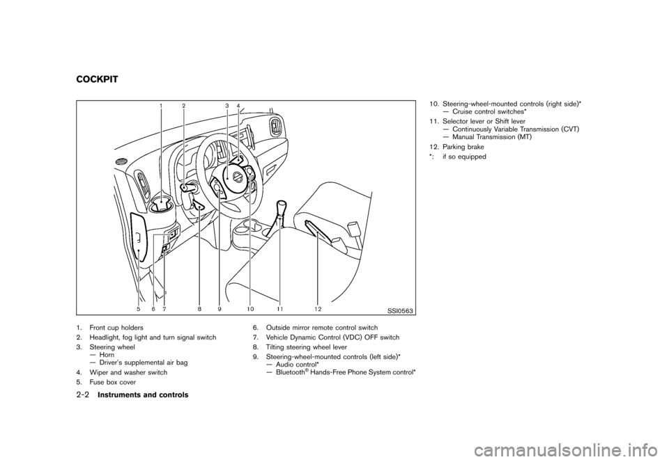 NISSAN CUBE 2011 3.G Owners Manual, Page 76
