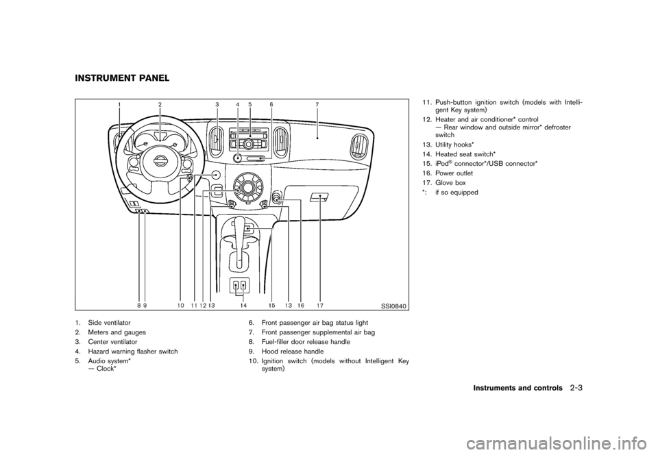 NISSAN CUBE 2011 3.G Owners Manual, Page 77