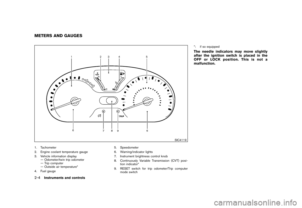 NISSAN CUBE 2011 3.G Owners Manual, Page 78