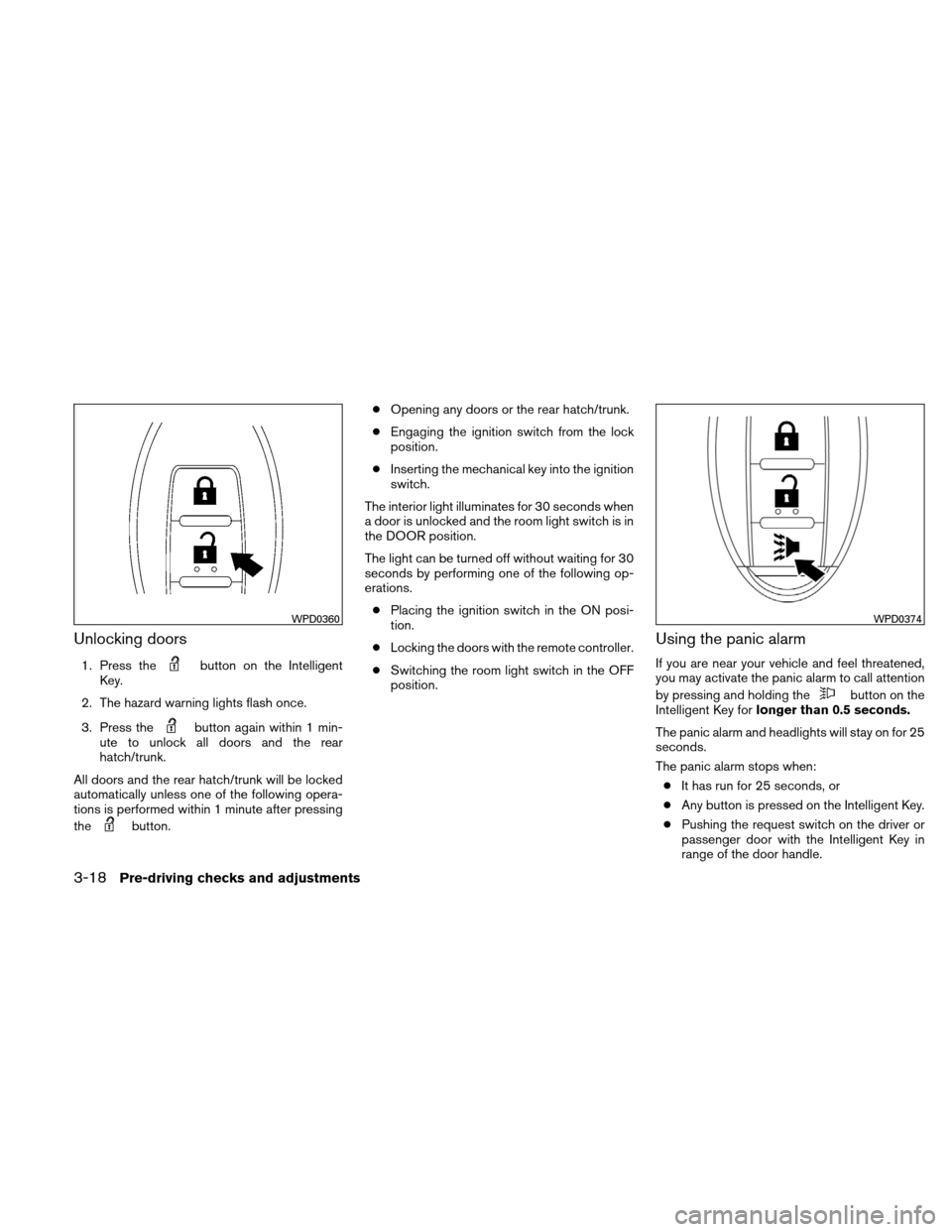 NISSAN VERSA HATCHBACK 2011 1.G Owners Manual, Page 133