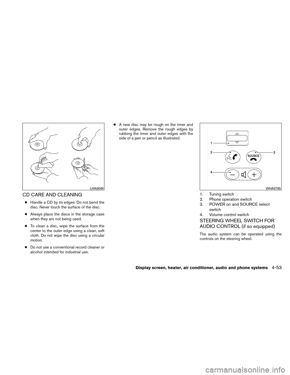 NISSAN VERSA HATCHBACK 2011 1.G Owners Manual, Page 200