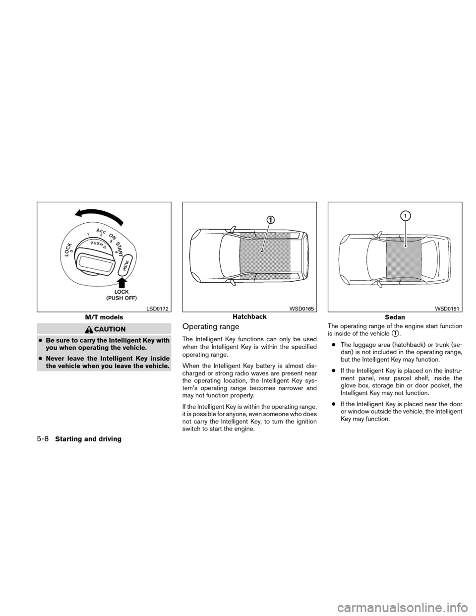 NISSAN VERSA HATCHBACK 2011 1.G Owners Manual, Page 225