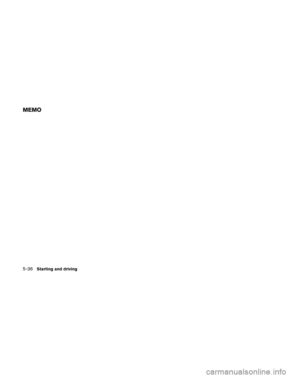 NISSAN VERSA HATCHBACK 2011 1.G Owners Manual, Page 253